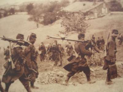 troupe en campagne 1914