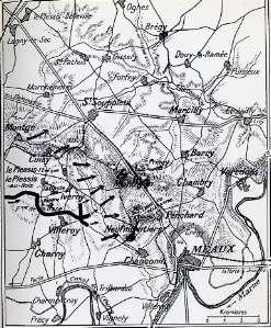 """carte de la bataille de la Marne """"Ed A.. Michel"""" clic pour agrandir"""