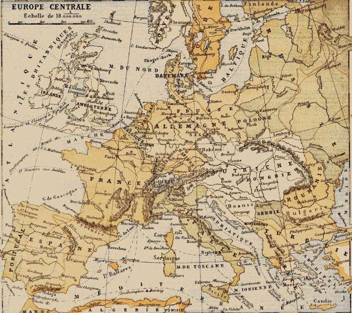 Carte Europe Ww1.Les Alliances En 1914